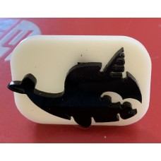 071 Narwhale Glitter Stamp
