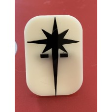 039 North Star Glitter Stamp