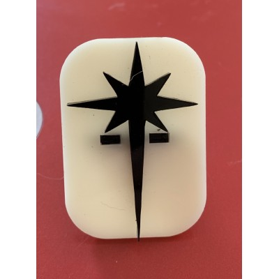 039 North Star Glitter Stamp