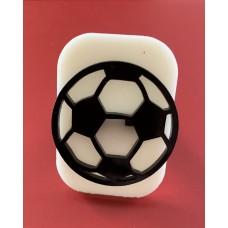 072 football glitter stamp