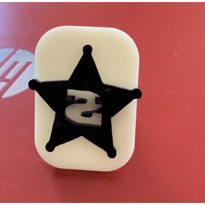 044 Sherif's Badge Glitter Stamp