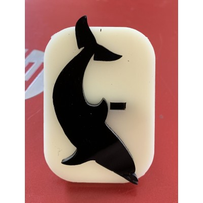 013 Dolphin 3 Glitter Stamp