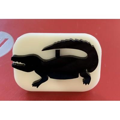 008 Crocodile Glitter Stamp
