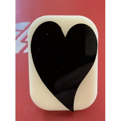 029 Heart 2 Glitter Stamp