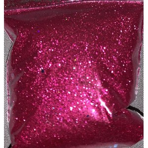 Bright red fine cosmetic glitter