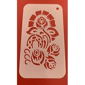 6257 Henna inspired stencil / stencils