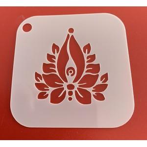 6264 henna inspired  reusable stencil. stencils
