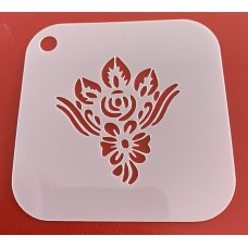 6265 henna inspired reusable stencil / stencils