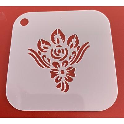 6265 henna inspired reusable stencil / stencils