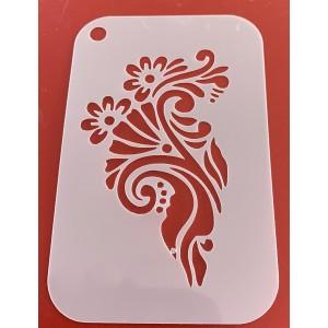 6281 henna inspired reusable stencil / stencils