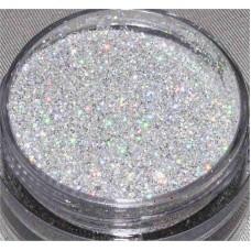 hologram silver glitter