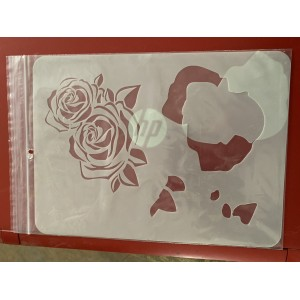 roses tattoo sleeve stencil