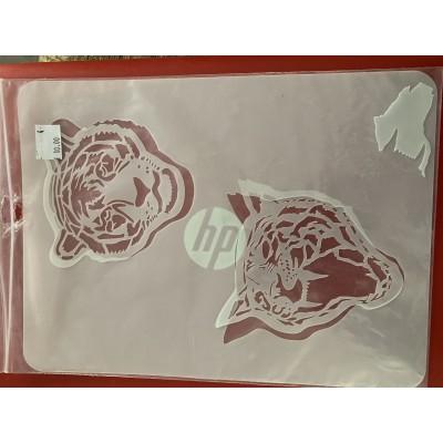 twin tigers tattoo sleeve stencil