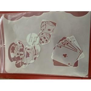 gambling 2 tattoo sleeve stencil