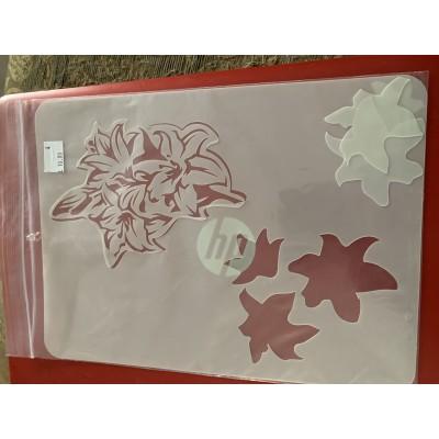 lilies tattoo sleeve stencil