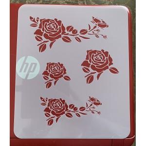 Roses tattoo stencil