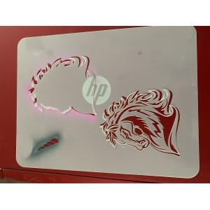 Unicorn / Horse tattoo sleeve stencil