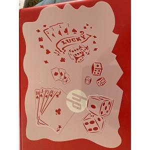 Lucky 7 Gambling tattoo sleeve stencil