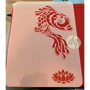 koi carp2  tattoo sleeve stencil