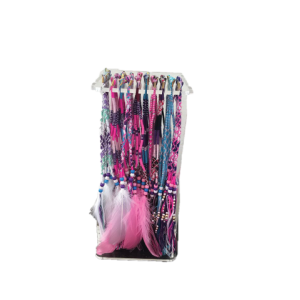 0001 small hair braid stand with 50 braids and tools