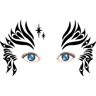 Tribal Queen  face painting stencil