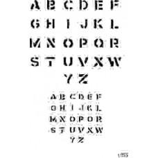 L055 alphabet stencil